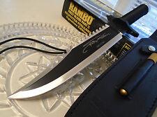 Rambo II Licensed Combat Bowie Hunter Knife HCG Masterpiece Signature 9295 New