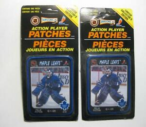 2 NHL Action Player Patches  Felix Potvin Toronto Maple Leafs 1993 NEW / SEALED