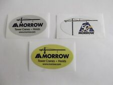 Rare Oilfield Morrow Tower Crane Hardhat stickers Union Iron Worker Mining