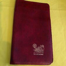 Faux leather maroon Talyllyn Railway wallet/ticket holder
