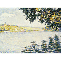 Paul Signac View Of The Seine At Herblay Canvas Art Print Poster
