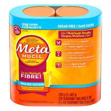 MetaMucil Multihealth Fiber Sugar Free Smooth Texture Orange 228 Doses 1324g