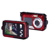 Wasserdicht Camera Doppel Bildschirm Full HD 24MP 16x Digital Zoom Tauchen
