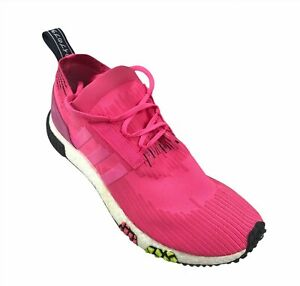 Adidas Originals NMD racer Primeknit Boost Pink Men's running shoes size 11