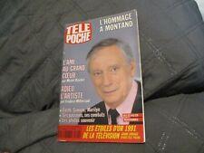 """TELE POCHE N°1345 - 1991"" MONTAND Catherine DENEUVE Jean-Luc LAHAYE CABREL"