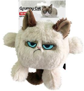 Rosewood Design-Grumpy Cat Head Dog Toy Buddy Soft Touch Play Training 51047