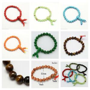 Buddha Meditation Natural Jade  Gemstone Beads Bracelet + Gift Pouch