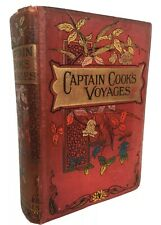 1880's CAPTAIN COOK'S THREE VOYAGES ROUND THE WORLD Lieutenant Charles
