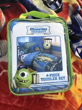 New 4pc MONSTERS INC TODDLER BEDDING SET - Mike Sulley Disney Comforter Sheets