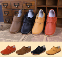 Women  Stylish New  Casual Real Leather Loafers Sticky Flats And Oxfords Shoes