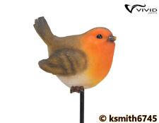 Vivid Arts ROBIN PLANT PAL resin ornament animal garden bird * NEW 💥