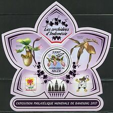NIGER 2017 ORCHIDS OF INDONESIA  SOUVENIR SHEET MINT NH