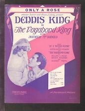 Vagabond King 1930 Only A Rose JEANETTE MacDONALD Movie Vintage Sheet Music