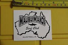 MALIBU MAKOS Surf Club Surfboards Australia AUS Vintage Surfing Decal STICKER