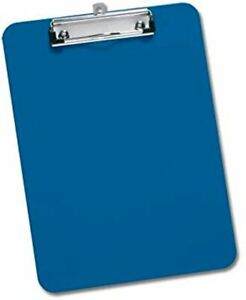 Blue A4 Clipboard Office Document Storage Paper Holder 9 x 12 inch