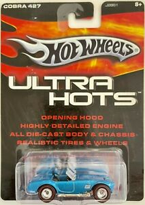 HOT WHEELS 2005 ULTRA HOTS REAL RIDERS BLUE SHELBY COBRA 427 S/C Redline Tires