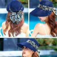 Fashion Women Anti-UV Sun Hat Summer Girls Beach Neck Face Caps Floppy Hat