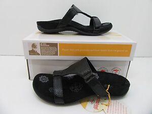 Orthaheel Molly Slide Sandal Black Snake Size 5