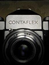 Zeiss Ikon Contaflex 35mm Camera w Carl Zeiss Tessar 2.8/50mm Lens & Case