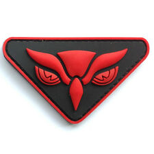 3D PVC OWL HEAD INTEL TACTICAL MILITARY MORALE ISAF USA DARK OPS RED HOOK PATCH