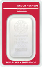 Silver Bullion 1 oz Argor-Heraeus 999 Fine 1oz 1 1Unze Swiss BAR