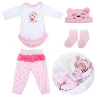 20'' 22'' Pink Reborn Doll Girl Clothes Set For Handmade Baby Doll Accessories