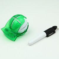 High Quality Golf Ball Stencil Template Drawing Putting Line Marker + Pen G9Z