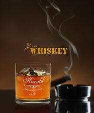 """Whiskyglas mit Gravur """"Genießer seit"""" (mit Name u. Datum), Whiskeybecher, Herren"""