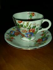 Vintage Tea Cup And Saucer Clarence Bone China England.  579 42F4/.5