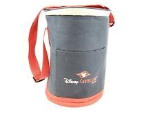 Disney Cruise Line Cooler Collectible Souvenir Canvas Cylinder Navy Red