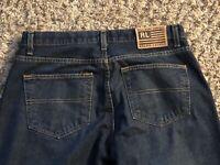 EUC VTG Ralph Lauren WOMENS Cropped Saturday Jean Blue Denim Mom Jeans SZ:10x26