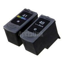 *2pk PG40 CL41 Ink Fits Canon PIXMA MP140 MP150 MP160 MP170 MP180 show Ink level