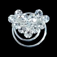 6 épingles spirales twister cheveux court mariage mariée coeur cristal blanc