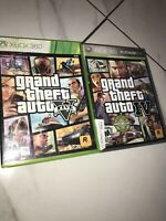 Grand Theft Auto IV+V Microsoft Xbox 360, 2008 Game Lot With Maps Only