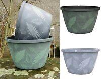 """11"""" Fern Planters Round Plastic Pot Garden Plant Deco Patio Flower Pots Outdoor"""