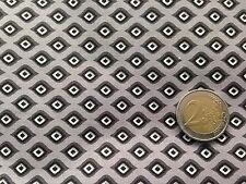 coupon de tissu  PUR coton  fond  gris  imprimé losange  : 3.00 m ; Ref  MO