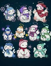 MACHINE EMBROIDERY DESIGNS - 10 SNOWMAN CHRISTMAS EMBROIDERY - PES DST JEF