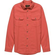NWT Mens Small Burton Brighton Flannel Button Down Long Sleeve Shirt Hot Sauce