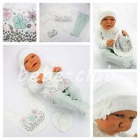 Babyset Geschenkset 5tlg Erstausstattung Mädchen Mint 56 62 Öko-Tex Baumwolle