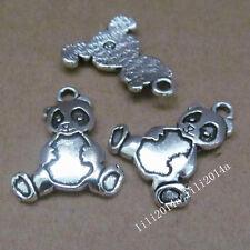 10pc Tibetan Silver Charms Beads Panda Animal Pendant Jewellery Making  PL447