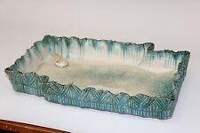 Vintage Japanese Ikebana Studio Slab Pottery Centerpiece Tray Bonsai Bowl Frogs