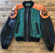 Vintage 90's Hobo USA Wolf Leather Jacket Size 38 Michael Hoban EUC