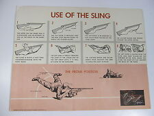 """Vintage Use of Gun Sling Training NRA Hunting Safety Poster 22"""" x 17"""""""