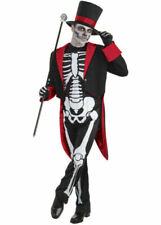 Mens Mr Bone Jangles Skeleton Costume Fancy Dress Halloween