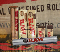 Raw King Size Rolling Papers Collection Roller Machine+Papers+Tips+Aluminum Tube