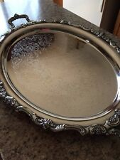 Towle Silver Plated Footed Waiter Butler Tray, 20 X 30