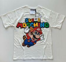Moschino Couture Super Mario Nintendo Graphic Tee T-shirts White Size XXS - NEW