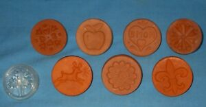 Lot 8  Rycraft + Assorted Cookie/Butter Stamps TerraCotta/Glass Reindeer/Floral