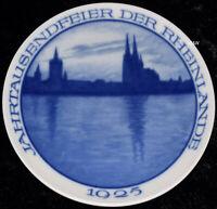 """1925 ROSENTHAL WANDTELLER """"JAHRTAUSENDFEIER DER RHEINLANDE """" TOP 1. WAHL"""