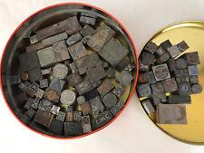 Huge Vintage Lot! 80 Letterpress Printing Block Press Stamp Vintage Wood Metal